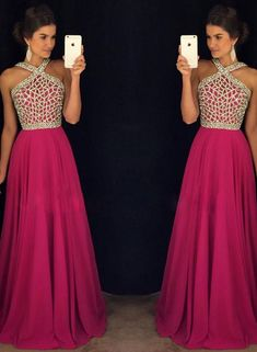 Rose Red Beaded Long Prom Dress for Teens,A line Chiffon Formal Dress,long evening dress,sleeveless prom dress Prom Dresses 2016, Prom Dresses For Teens, Prom Dress Stores, Formal Dresses, Long Dresses, Beautiful Prom Dresses, Evening Dresses, Chiffon Beading, Red Chiffon