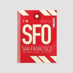 SFO - San Francisco Airport - San Francisco - California, US - Poster