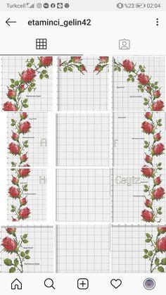 Embroidery Applique, Needlepoint, Cross Stitch, Crochet, Kitchens, Craft, Roses, Seed Stitch, Punto De Cruz