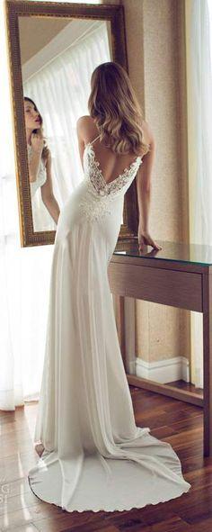 julie vino spring 2014 melanie wedding dress back_美美 - 美丽鸟