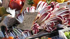 Bitter red chickory known as Radicchio Trevisiano is often served in salads, alla griglia (grilled and served with olive oil) and can even be found in some risotto dishes. Looks great!