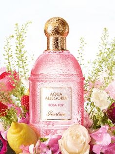 Aqua Allegoria Rosa Pop Guerlain for women...  This fruity floral fragrance includes fragrant notes of peony, rose, lemon and red berries. Perfume rating: 3.66 out of 5 with 36 votes.