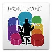 drawn to music notepad :  Nathaniel Russell is a lifelong music aficionado whose listening choices impact his artwork. This unique set celebrates the relationship between music and creativity, and is designed specifically for use while listening to your favorite music. More than a journal, this piece celebrates music and album artwork