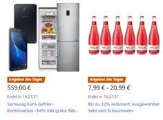 Amazon: Energiesparende Kühl-Gefrier-Kombi mit Gratis-Tablet für 559 Euro https://www.discountfan.de/artikel/technik_und_haushalt/amazon-energiesparende-kuehl-gefrier-kombi-mit-gratis-tablet-fuer-559-euro.php Als Angebot des Tages gibt es heute bei Amazon eine energiesparende Kühl-Gefrierkombi von Samsung mit Top-Rezensionen für 559 Euro frei Haus. Im Preis des Samsung RB29FEJNBSA enthalten ist ein Samsung-Tablet im Wert von 100 Euro. Amazon: Energiesparende Kühl