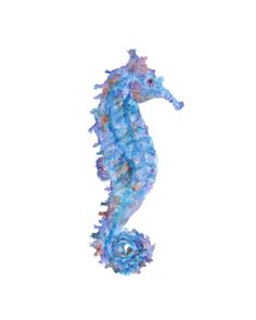 Seahorse watercolor painting by ThimbleSparrow