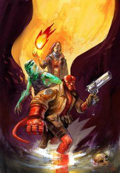Hellboy, Liz and Abe