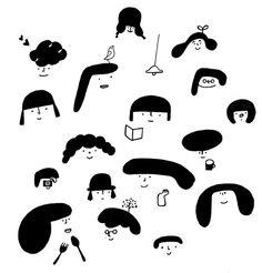 自由的時間 隨性的手作 開心的畫畫 Illustration Girl, Character Illustration, Watercolor Illustration, Pattern Illustration, Illustrations And Posters, People Illustrations, Croquis, Easy Drawings, Fashion Prints