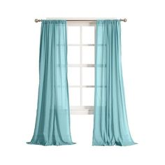 Curtain Panel Harvey Cotton Gauze Aqua ($21) ❤ liked on Polyvore featuring home, home decor, window treatments, curtains, blue, blue patterned curtains, target window curtains, blue window valance, blue green curtains and aqua window curtains