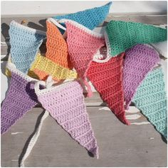 yummy crochet flag bunting