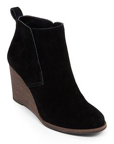 Yoniana Wedge Bootie in Black Suede | Lucky Brand