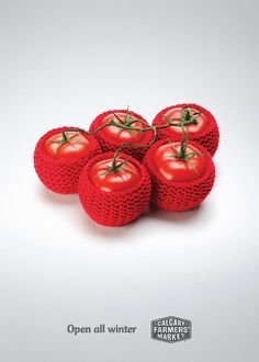 Tomato clothes.  Hmmmm- I did not know that I was supposed to dress my produce? LOL