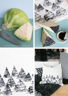 Tygtryck med frukt & grönsaker - Pyssel & pysseltips - Make & Create