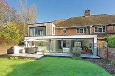 Image result for modern extension on old cottage