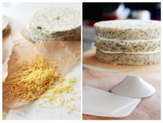 Always With Butter: Lemon Poppy Seed Cake with Lemon Cream Cheese Frosting