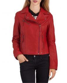 Blouson style perfecto rouge, Clip Oakwood
