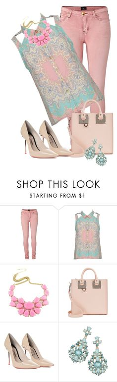 """""""rosa e azul"""" by daianetavares310 ❤ liked on Polyvore featuring Alice In The Eve, Sophie Hulme and Sophia Webster"""