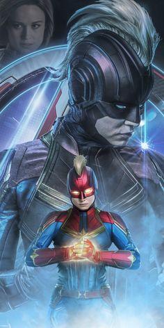Avengers: Endgame, Captain Marvel, movie poster, art, 1080x2160 wallpaper
