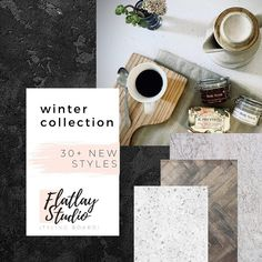 Introducing our carefully curated WINTER COLLECTION 🍁🤍🔥 •  Over 30 new styles added! Click link in bio & swipe for preview. • We want to make sure that your photos are relevant and on trend. • Gorgeous winter and autumn hues, maroons, cranberries and tans, with pops of Italian-influenced terrazzo and quartz tile styles. • • __________________________________ #winterflatlay #flatlaytrends #flatlaytexture #flatlaystyle #flatlaystudiosa #flatlayphotography Quartz Tiles, Flat Lay Photography, Flatlay Styling, Style Tile, Tans, Cranberries, Terrazzo, Winter Collection, Autumn