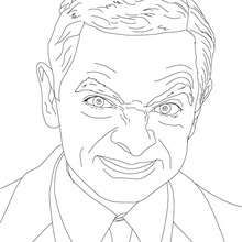 Mr Bean Colouring Page Coloring Page Famous People Coloring