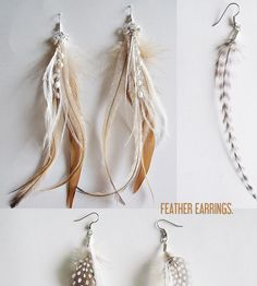 feather earring inspiration. lovely details.