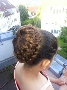 Ladder braid bun @abellasbraids