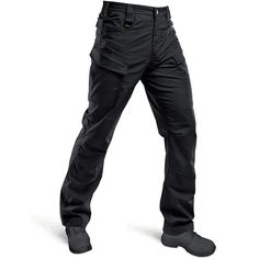 Hardland Men's Tactical Ripstop Pants Black Tactical Pants, Tactical Cargo Pants, Cargo Pants Men, Mens Hiking Pants, Mens Work Pants, Waterproof Pants, Combat Pants, Black Pants, How To Wear