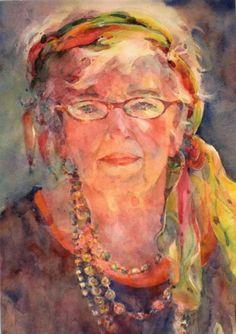 watercolor (Contemporary Painting, Watercolor, Portrait)