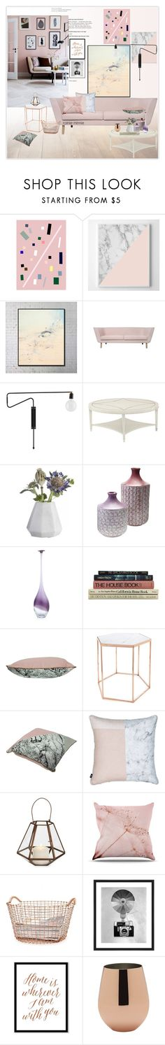 """""""Pink and Copper"""" by rainie-minnie ❤ liked on Polyvore featuring interior, interiors, interior design, home, home decor, interior decorating, Ryder, Bloomingville, Elements and Korbo"""