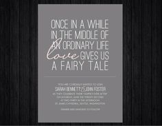 Love the wording, especially with my belief in fairy tales!
