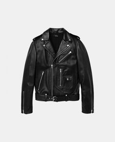 Leather Biker jacket - Short Jackets - Men - The Kooples