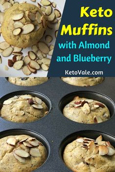 Almond Blueberry Low Carb Muffins Recipe via @ketovale