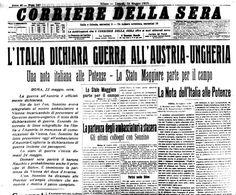 1915: PRIMA GUERRA MONDIALE - Italia contro Austria e Germania.