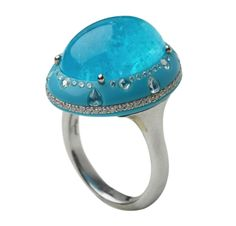 Turquoise Jewelry A Paraiba Tourmaline, Turquoise and Diamond Ring, by Chopard Gems Jewelry, High Jewelry, I Love Jewelry, Jewelry Art, Vintage Jewelry, Jewelry Design, Gemstone Jewelry, Jewlery, Tourmaline Jewelry