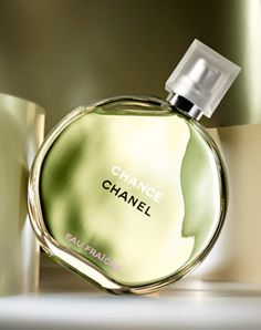 """Chanel Chance -- Eau Fraiche.  Love this version of Chance.  I bought this last spring, when it was released, and I am rediscovering it this spring.  My bottle is almost empty! """"The unexpected floral bursts with a lightness and zest as notes of citrus, Water Hyacinth and Jasmine Absolute are highlighted and energized with woody notes of Amber of Patchouli and Fresh Vetiver."""""""