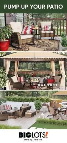 Whether youre enjoying a warm evening with friends or a casual lunch for two the Oakmont patio collection create a cozy intimate setting. - Patio Collection - Ideas of Patio Collection Patio Pergola, Pergola With Roof, Pergola Shade, Backyard Patio, Backyard Landscaping, Pergola Ideas, Patio Ideas, Pergola Plans, Iron Pergola