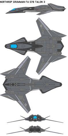 Grumman FA-37B Talon 3 by bagera3005 on DeviantArt