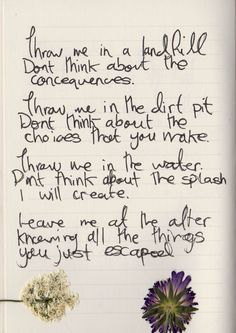 Pressed flowers and silly words