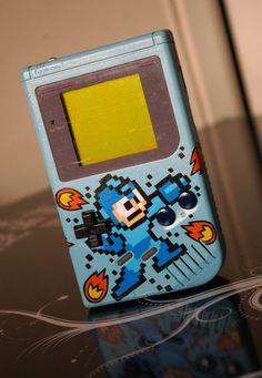 Custom Mega Man Gameboy by Oskunk