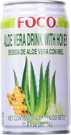 Bebida con aloe vera Foco, un agua sin gas, saborizada con miel, y que contiene un 40 % de aloe vera, no especifica en que cantidades tiene el jugo y el gel.