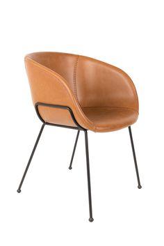 Feston armchair - Brown