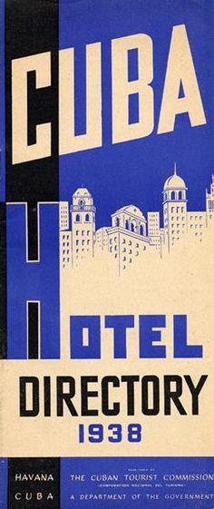 Cuba Hotel Directory 1938