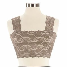 Lace bandeau with straps - great under tanks, sheer shirts, or low cut blouses | NorthStyle
