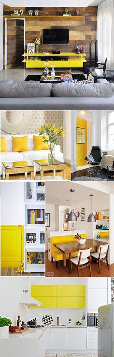 decoração amarela juro valendo