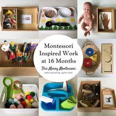 Montessori Inspired Work at 16 Months