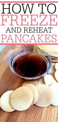 Looking for an easy breakfast for the kids? Try these tips for freezing pancakes… Looking for an easy breakfast for the kids? Try these tips for freezing pancakes. You can reheat them in the microwave and have the kids out the door quick. Freeze Pancakes, Pancakes Easy, Pancakes And Waffles, Breakfast Pancakes, Breakfast Casserole, Freezer Cooking, Freezer Meals, Cooking Tips, Food Tips