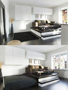 Cama escondida … | Small home ideas | Pinterest | Schlafzimmer und ...