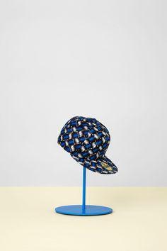 "Kenzo & New Era collabo cap, what?!  yes! (Spring 2013, Blue ""basket weave"" print)"