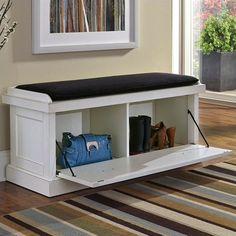 Storage Bench Seating, Indoor Storage Bench, White Storage Bench, Storage Bench With Cushion, Seat Storage, Upholstered Storage Bench, Indoor Benches, Entry Storage Bench, Entry Bench