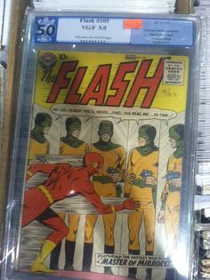 Comic Book Hunter & Gatherer: The Flash #105 - A piece of Comic book history