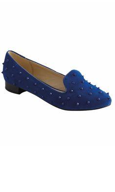 Matalan Cobalt Blue Studded Slipper Loafers